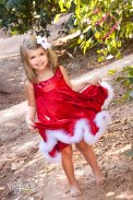 Christmas wedding flower girl dress - www.etsy.com/shop/MelissaJaneBoutique