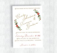 Christmas wedding invitation - www.etsy.com/shop/LisasGraphicDesign