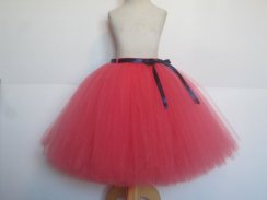 Coral and navy adult bridesmaid tutu skirt - www.etsy.com/shop/AmericanBlossoms