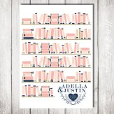 Coral and navy alternative guestbook (guests sign the spines of the books) - www.etsy.com/shop/HelloAm