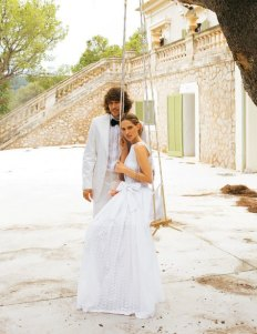 Cotton wedding dress (US$380) - www.etsy.com/shop/porshesplace