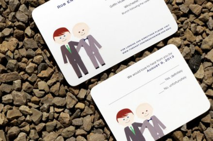 Customised gay wedding invitation - www.etsy.com/shop/StelieDesigns
