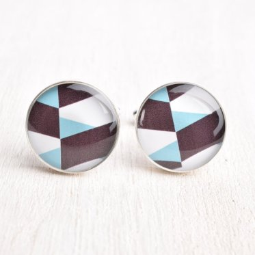 Geometric cufflinks - www.etsy.com/shop/whitetruffle