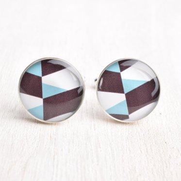 Geometric cufflinks - www.etsy.com/shop/whitetruffle