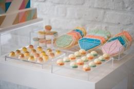 Geometric wedding dessert table {via 100layercake.com}