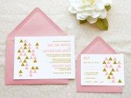 Geometric wedding invitation - www.etsy.com/shop/merrymint