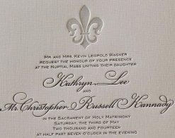 Letterpress wedding invitation - www.etsy.com/shop/SmallPrinter