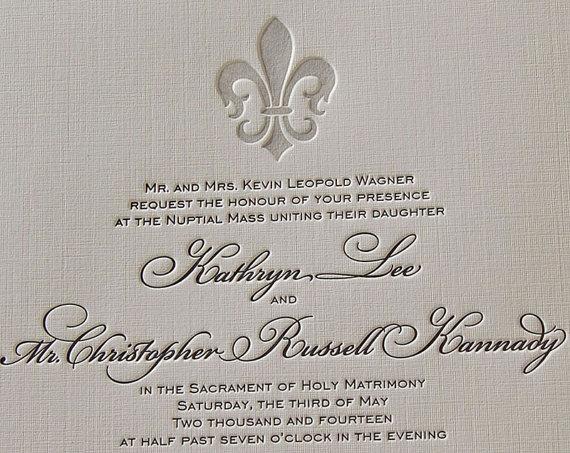 Letterpress Wedding Invitation Etsy Shop SmallPrinter