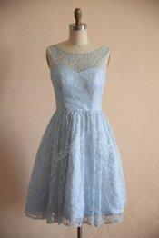 Light blue bridesmaid dress - www.etsy.com/shop/misdress