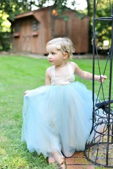 Light blue flower girl dress - www.etsy.com/shop/BellaBeanCouture