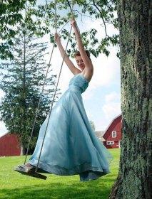 Light blue wedding dress - www.etsy.com/shop/TaraLynnStudio