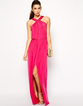 Love Slinky Halter Neck Maxi Dress From Asos Com The Merry Bride