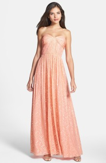 'Monique' Foiled Silk Chiffon Gown - nordstrom.com