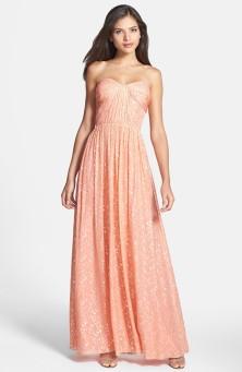 'Monique' Foiled Silk Chiffon Gown - nordstrom.com