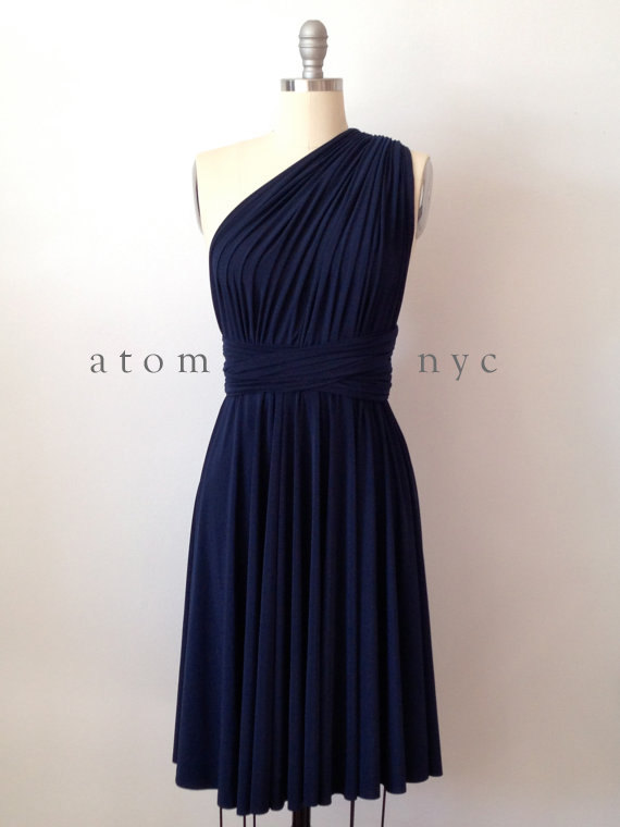 Navy bridesmaid dress the for Best etsy wedding dress shops