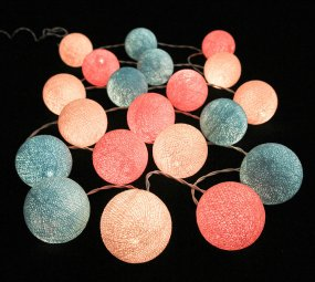 Peach and light blue string lights - www.etsy.com/shop/LivingPastel