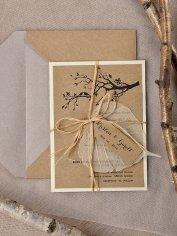Rustic wedding invitation - www.etsy.com/shop/forlovepolkadots