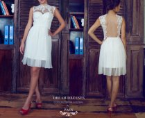 Short wedding dress (US$500) - www.etsy.com/shop/DreamDressesByPMN