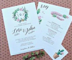 Succulent wedding invitation - www.etsy.com/shop/sweetinvitationco
