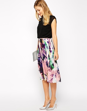 Warehouse print pleated day dress, from asos.com