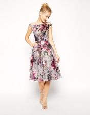 ASOS Beautiful Floral Printed Midi Prom Dress, from asos.com