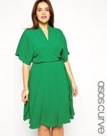 ASOS CURVE Obi Wrap Dress, from asos.com
