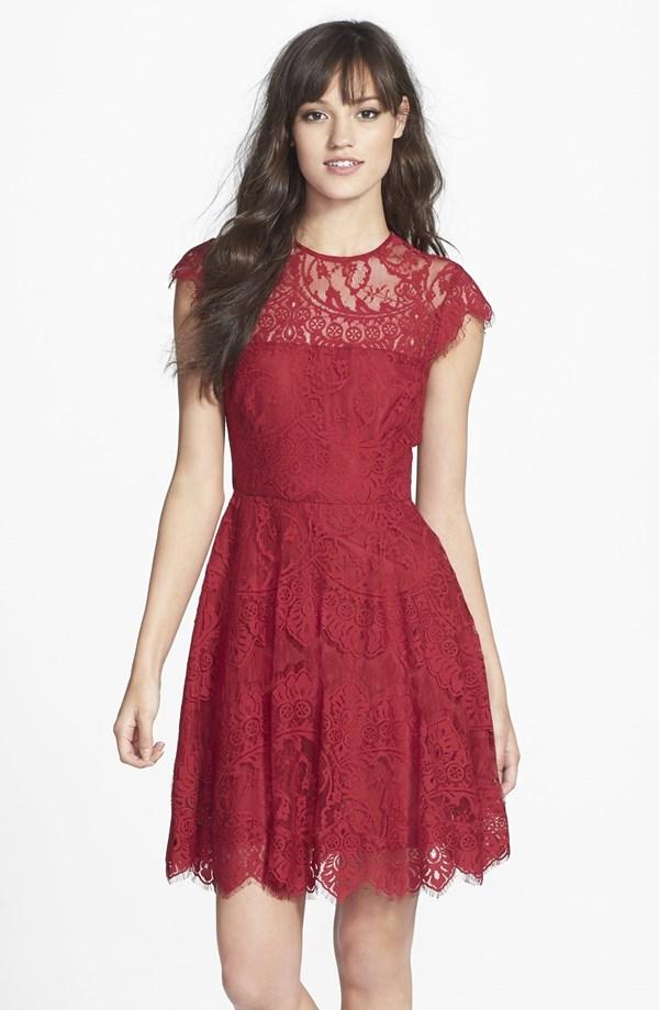 Bb Dakota Rhianna Illusion Yoke Lace Dress From Nordstrom