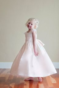 Blush-pink flower girl dress - www.etsy.com/shop/gillygray