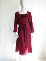 Burgundy mother-of-the-bride dress - www.etsy.com/shop/ERLEBNISNewYork