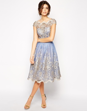 ... London Premium Metallic Lace Dress, from asos.com | The Merry Bride