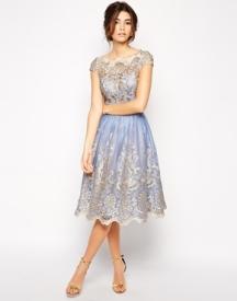 Chi Chi London Premium Metallic Lace Dress, from asos.com