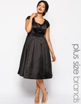 Chi Chi Plus Satin Midi Dress, from asos.com