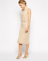 Frock and Frill Embellished Midi Shift Dress, from asos.com