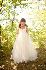 Full-length flower girl dress - www.etsy.com/shop/OliviaKateCouture