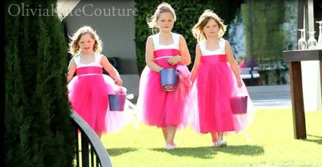 Hot pink flower girl dresses - www.etsy.com/shop/OliviaKateCouture
