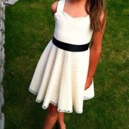 Lace flower girl dress - www.etsy.com/shop/ChloeBellBoutique