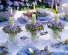 Lilac and green table decor idea {via superweddings.com}