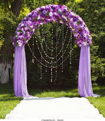 Lilac and green wedding arch {via the-wedding-information-site.com}