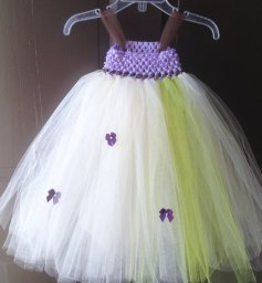 Liliac and green flower girl tutu - www.etsy.com/shop/JamsGrandmasTutus