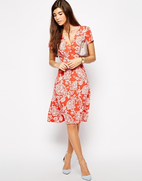 Love Skater Dress in Bright Paisley Print, from asos.com