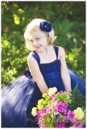 Navy flower girl dress - www.etsy.com/shop/littledreamersinc