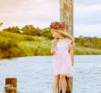 Pale pink flower girl dress - www.etsy.com/shop/DLilesCollection