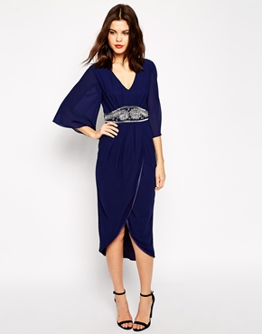 TFNC Embellished Midi Dress With Kimono Sleeves, from asos.com