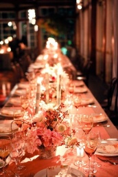 Coral and gold table setting inspiration {via weddinghigh.com}
