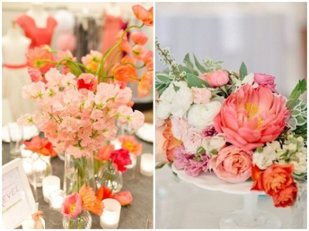 Coral flower ideas {via frenchweddingstyle.com}