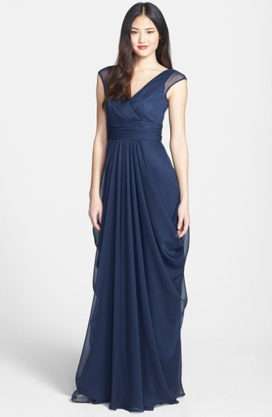 Lela Rose navy bridesmaid dress - available from nordstrom.com