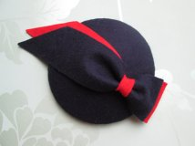 Navy and red fascinator - www.etsy.com/shop/LillibetsMillinery