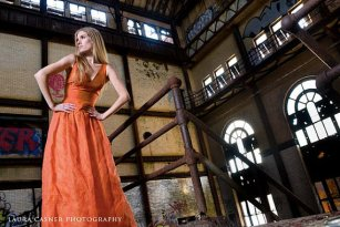 Orange dress - www.etsy.com/shop/kimeradesign