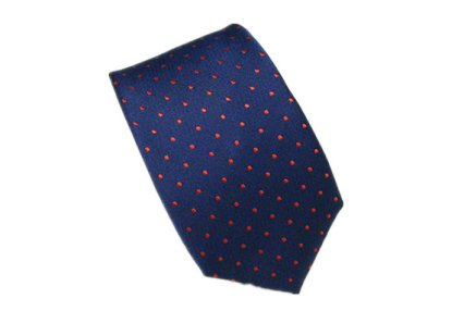 Red and navy men's tie - www.etsy.com/shop/HeySir