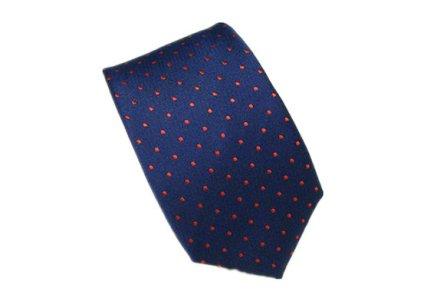 Red and navy men's tie - www.etsy.com/shop/HeySir